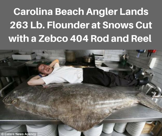 April Fools 263 Pound Flounder Image Goes Viral
